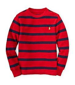 Ralph Lauren Childrenswear Boys' 2T-7 Long Sleeve Striped Tee