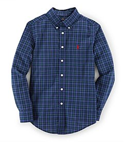 Ralph Lauren Childrenswear Boys' 8-20 Plaid Poplin Blake Top