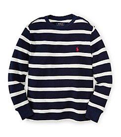 Ralph Lauren Childrenswear Boys' 8-20 Striped Waffle Top