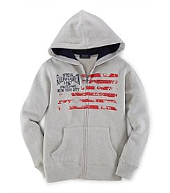 Ralph Lauren Childrenswear Boys' 8-20 Solid Flag Hoodie