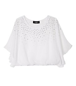 Amy Byer Girls' 7-16 Jeweled Flow Top