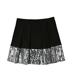 Amy Byer Girls' 7-16 Sequin Party Skirt