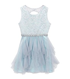 Rare Editions® Girls' 7-16 Floral Textured Bodice Dress