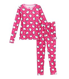 Cuddl Duds® Girls' 2T-12 Comfy Hello Kitty Tee And Pants Set