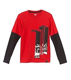 DKNY® Boys' 4-20 Long Sleeve Cubist Tee