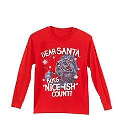 Star Wars® Boys' 8-20 Dear Santa Does Nice-Ish Count? Tee