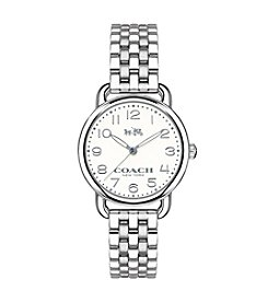COACH DELANCY SILVERTONE WATCH
