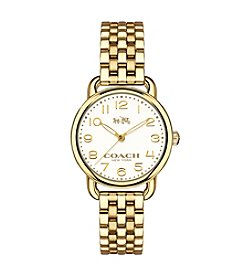 COACH DELANCY GOLDTONE WATCH
