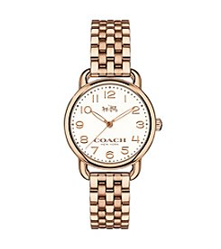 COACH DELANCY ROSE GOLDTONE WATCH