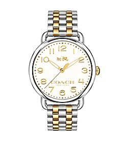 COACH DELANCY TWO TONE BRACELET WATCH