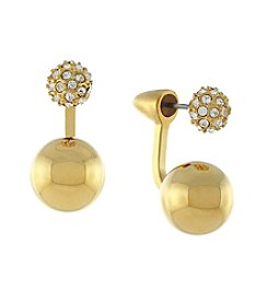 Vince Camuto® Goldtone Two Part Sphere Earrings