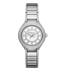 Michael Kors® Women's Silvertone Stainless Steel Mini Kerry Watch with Mother of Pearl Dial