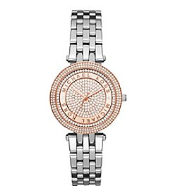 Michael Kors® Women's Two-Tone Mini Darci Watch with Pave Logo Dial