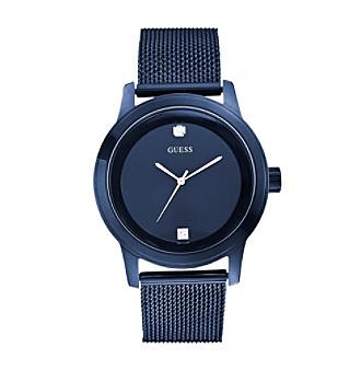 GUESS Men's Telescope Blue Mesh Bracelet Watch