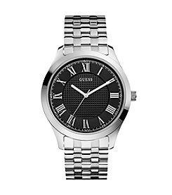 GUESS Men's Polished Silvertone Steel Watch