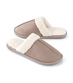 The Sharper Image® Men's Faux Sherpa Lined Slipper
