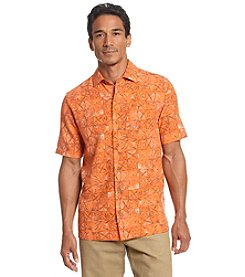 Paradise Collection Men's® Short Sleeve Geo Silk Button Down