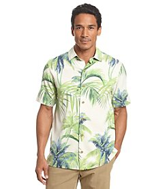 Paradise Collection® Men's Short Sleeve Palm Silk Button Down