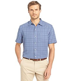 Van Heusen® Men's Big & Tall Short Sleeve Plaid Button Down Shirt