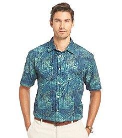 Van Heusen® Men's Big & Tall Short Sleeve Printed Button Down Shirt