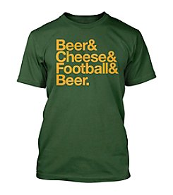 Drink Wisconsinbly® Men's Short Sleeve Beer Cheese Football Tee