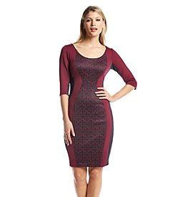 Sangria™ Scuba Sheath Dress