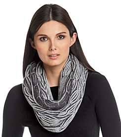 Calvin Klein Lurex Cable Loop Scarf