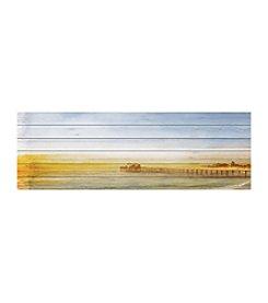 Parvez Taj Malibu Pier Art Print on White Pine Wood