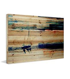 Parvez Taj Aegean Sea Art Print on Natural Pine Wood