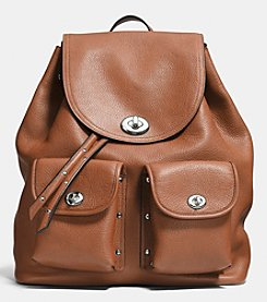 COACH TURNLOCK TIE RUCKSACK IN REFINED PEBBLE LEATHER