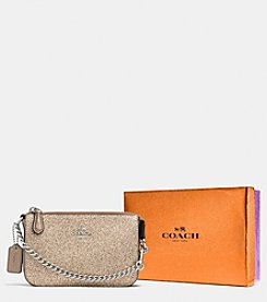 COACH NOLITA WRISTLET 15 IN GLITTER FABRIC