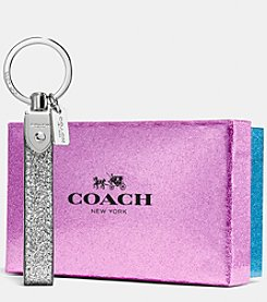 COACH GLITTER LOOP KEY RING