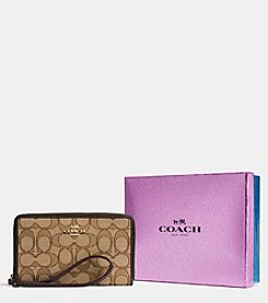 COACH ZIP CASE IN SIGNATURE JACQUARD