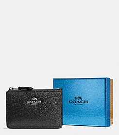 COACH MINI ID SKINNY IN GLITTER FABRIC
