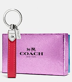COACH LEATHER LOOP KEY RING