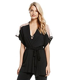 Jessica Simpson Short Lacy Robe