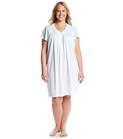 Miss Elaine® Short Henley Nightgown