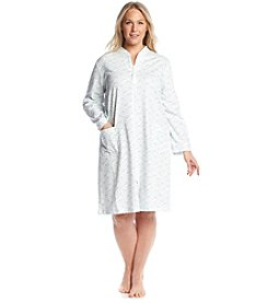Miss Elaine® Long Sleeve Zip Up Robe