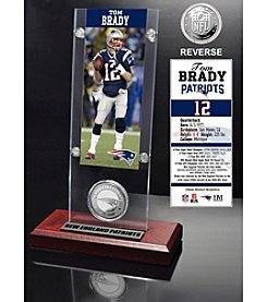 Tom Brady Ticket & Minted Coin Desktop Acrylic