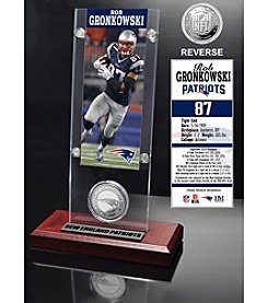 NFL® New England Patriots Rob Gronkowski Ticket & Minted Coin Desktop Acrylic