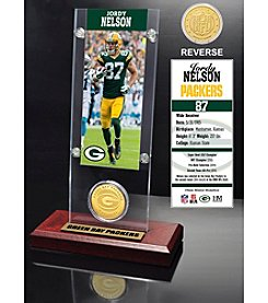 NFL® Green Bay Packers Jordy Nelson Ticket & Bronze Coin Desktop Acrylic