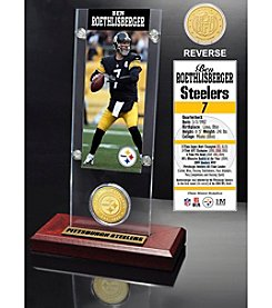 NFL® Pittsburgh Steelers Ben Roethlisberger Ticket & Bronze Coin Acrylic Desk Top