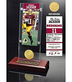 NFL Washington Redskins DeSean Jackson Ticket & Bronze Coin Acrylic Desktop Display