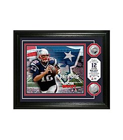 NFL® New England Patriots Tom Brady Silver Minted Coin Photo