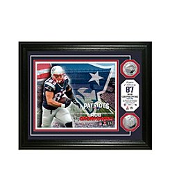 NFL® New England Patriots Rob Gronkowski Silver Minted Coin Photo