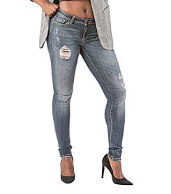 Poetic Justice® Maya Mid Rise Skinny Jeans