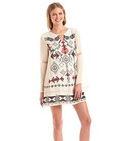 Taylor & Sage™ Printed Bell Sleeve Dress
