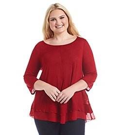Living Doll® Plus Size Ruffle Sweater