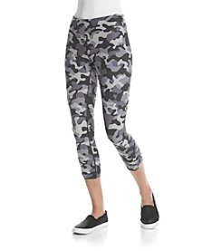 Kensie® Performance Camo Crop Leggings