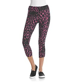 Kensie® Performance Lynx Printed Crop Leggings